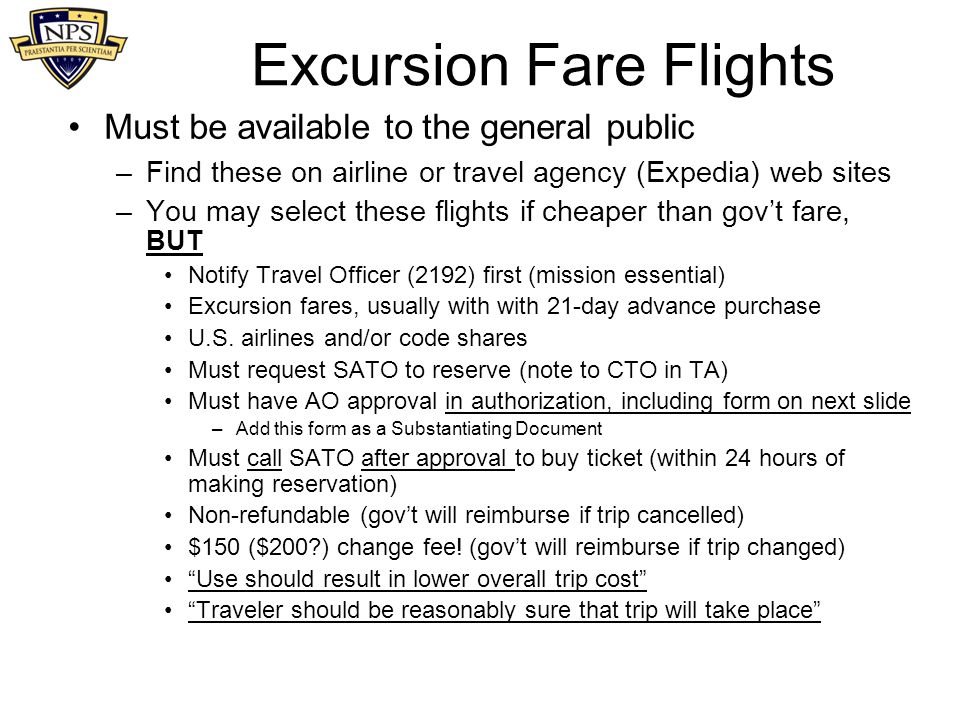 Excursion Fare Flights