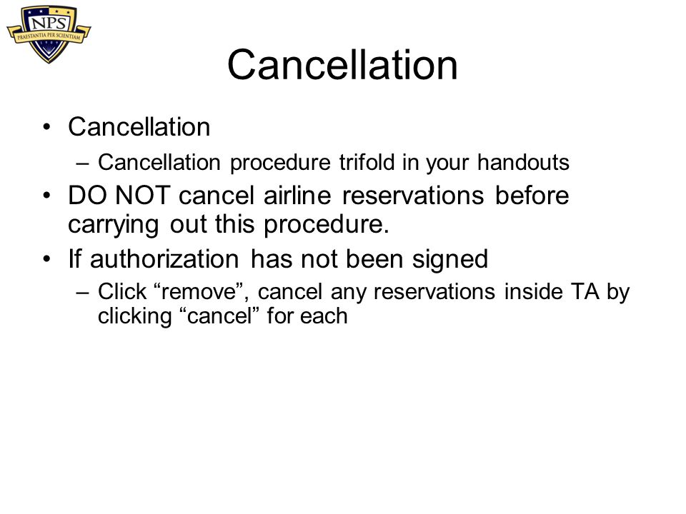Cancellation Cancellation