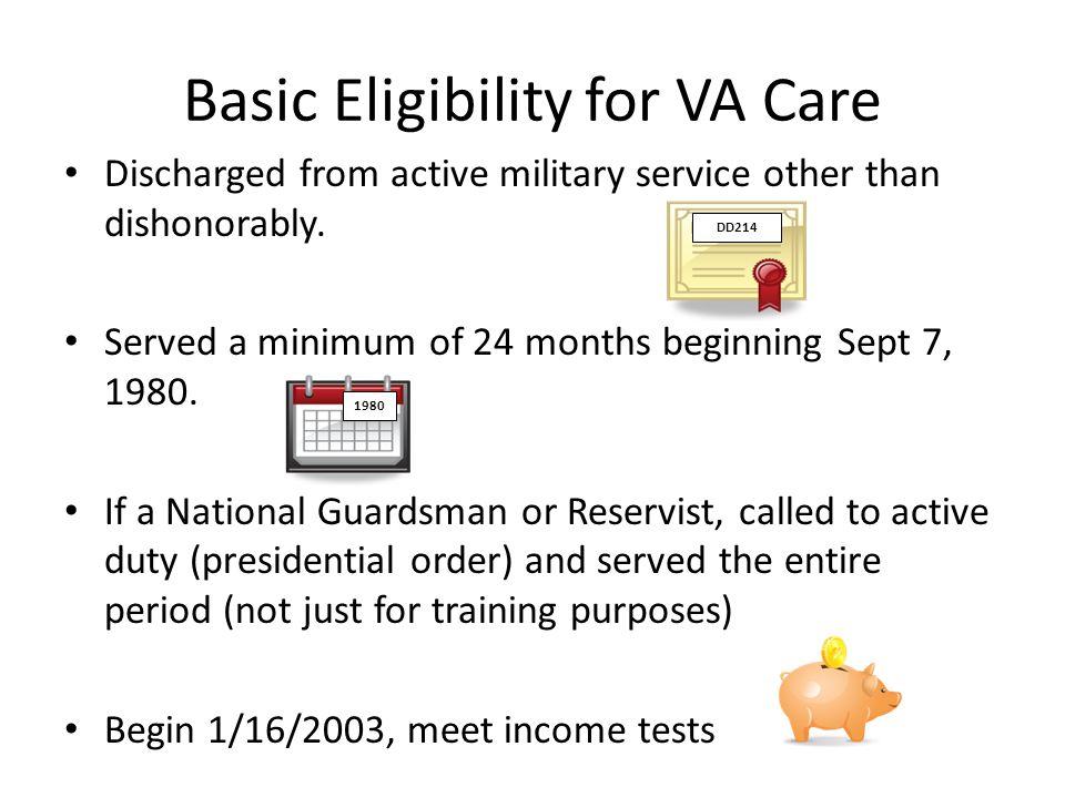 Basic Eligibility for VA Care