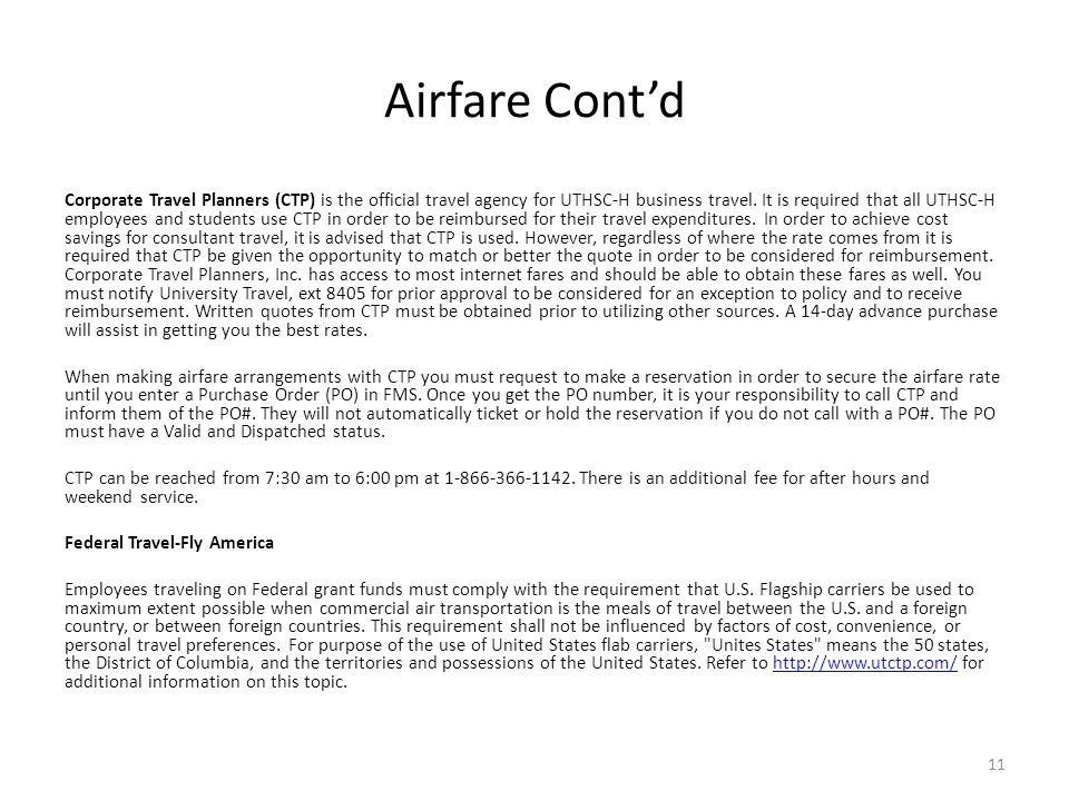 Airfare Cont'd