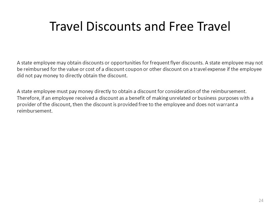 Travel Discounts and Free Travel