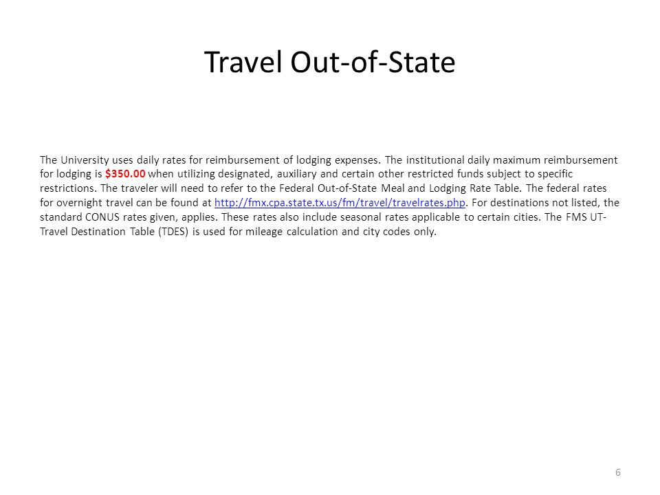 Travel Out-of-State
