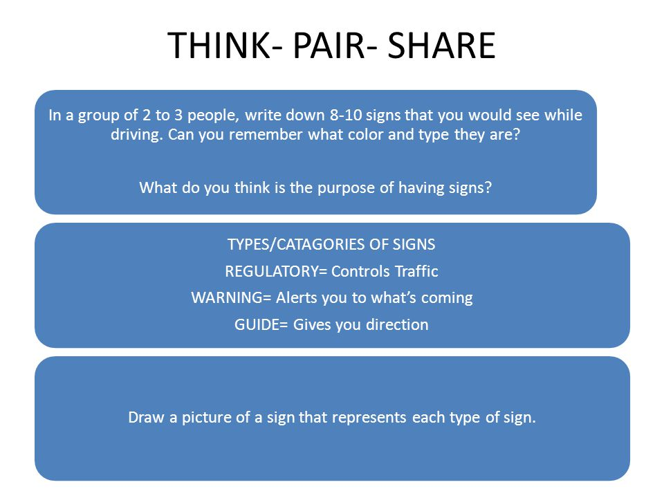 THINK- PAIR- SHARE