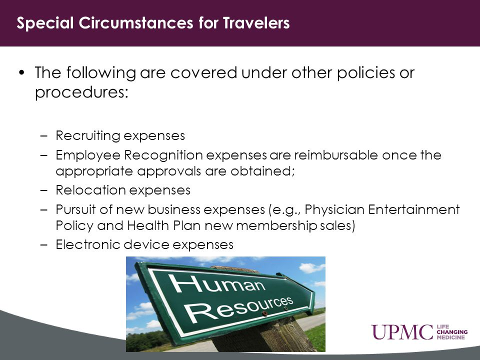 Special Circumstances for Travelers