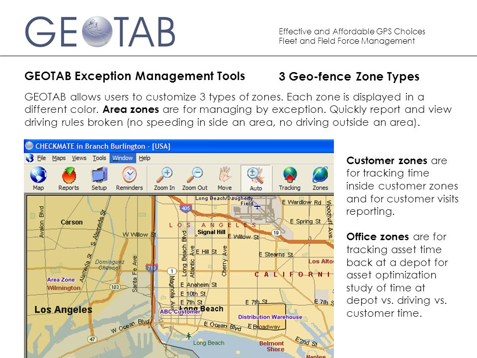 GEOTAB Exception Management Tools 3 Geo-fence Zone Types