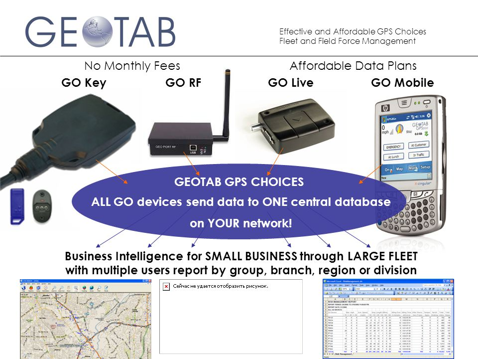 ALL GO devices send data to ONE central database
