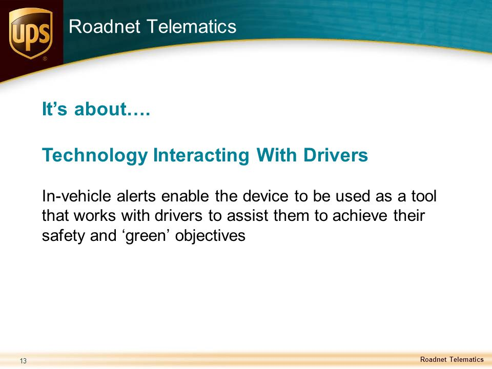 Technology Interacting With Drivers