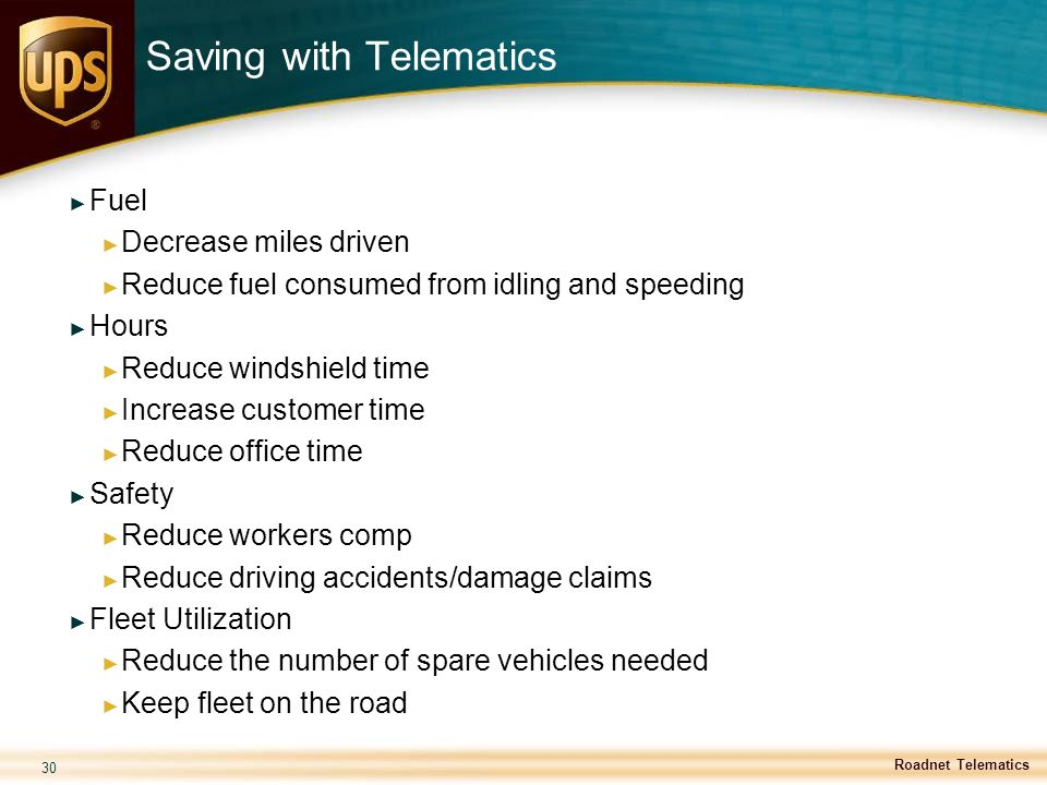 Saving with Telematics