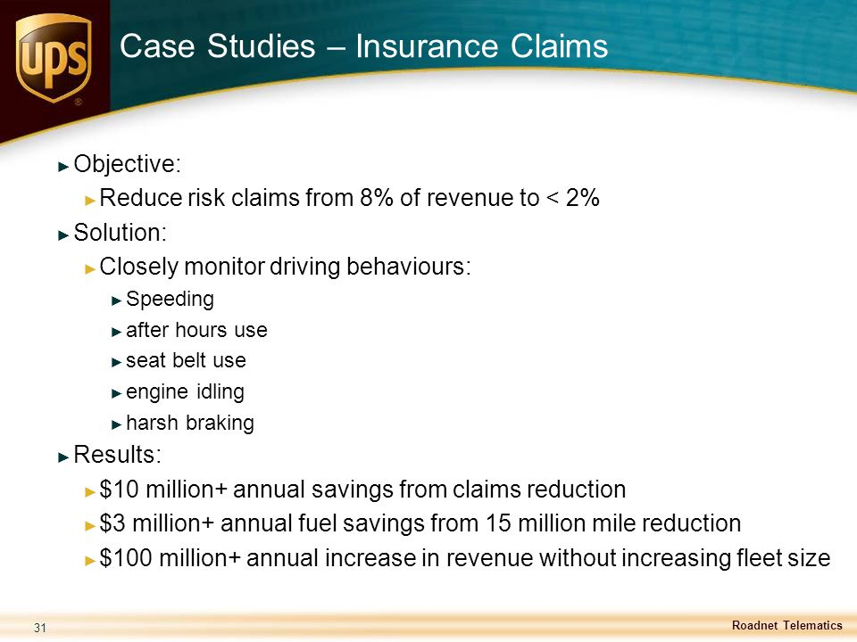 Case Studies – Insurance Claims