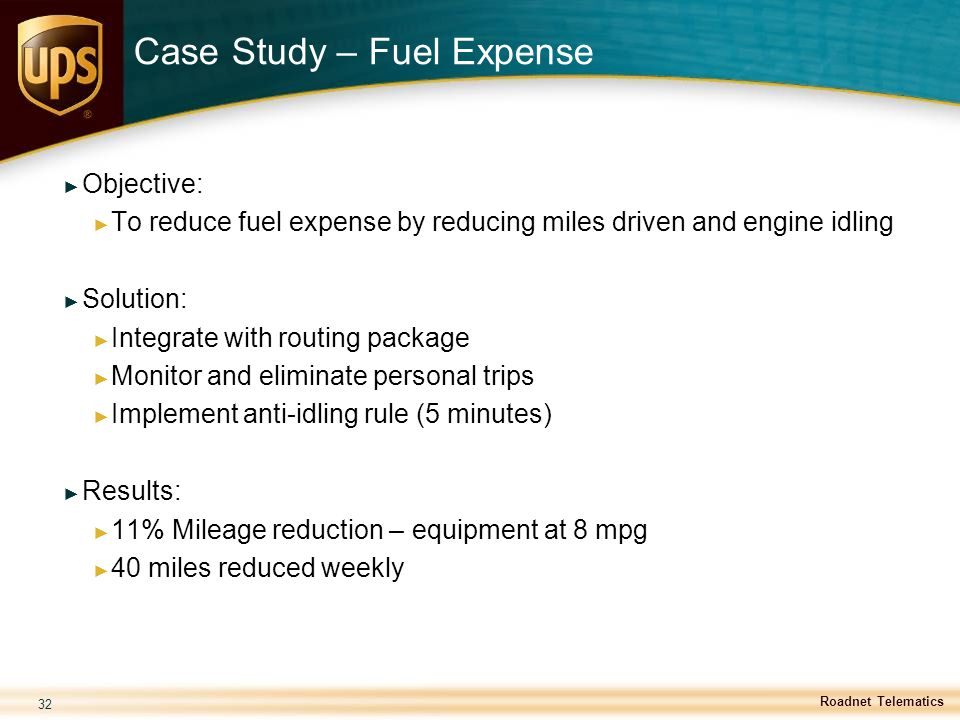 Case Study – Fuel Expense