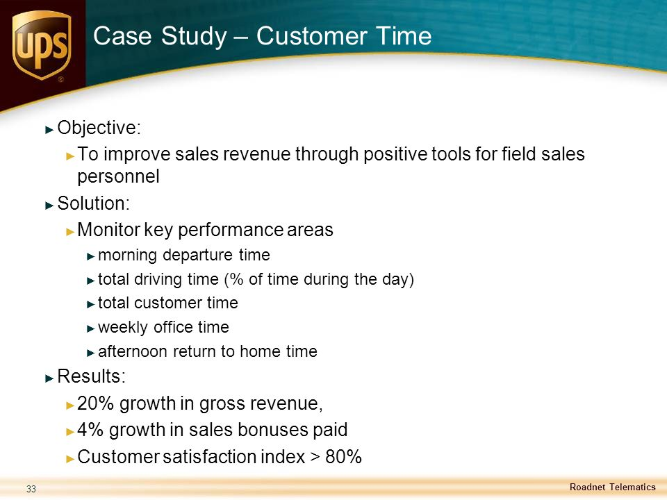 Case Study – Customer Time