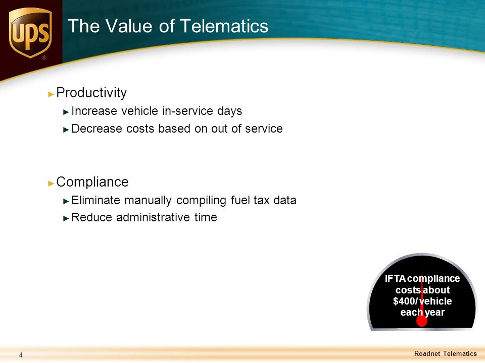 The Value of Telematics