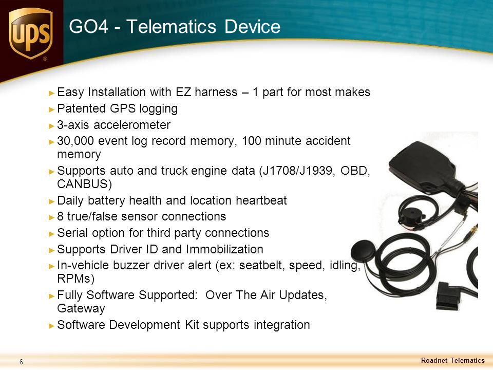 GO4 - Telematics Device Easy Installation with EZ harness – 1 part for most makes. Patented GPS logging.