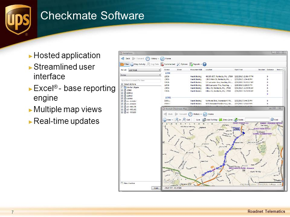 Checkmate Software Hosted application Streamlined user interface