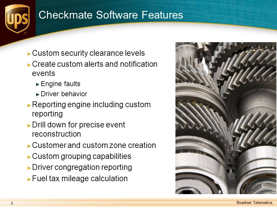 Checkmate Software Features