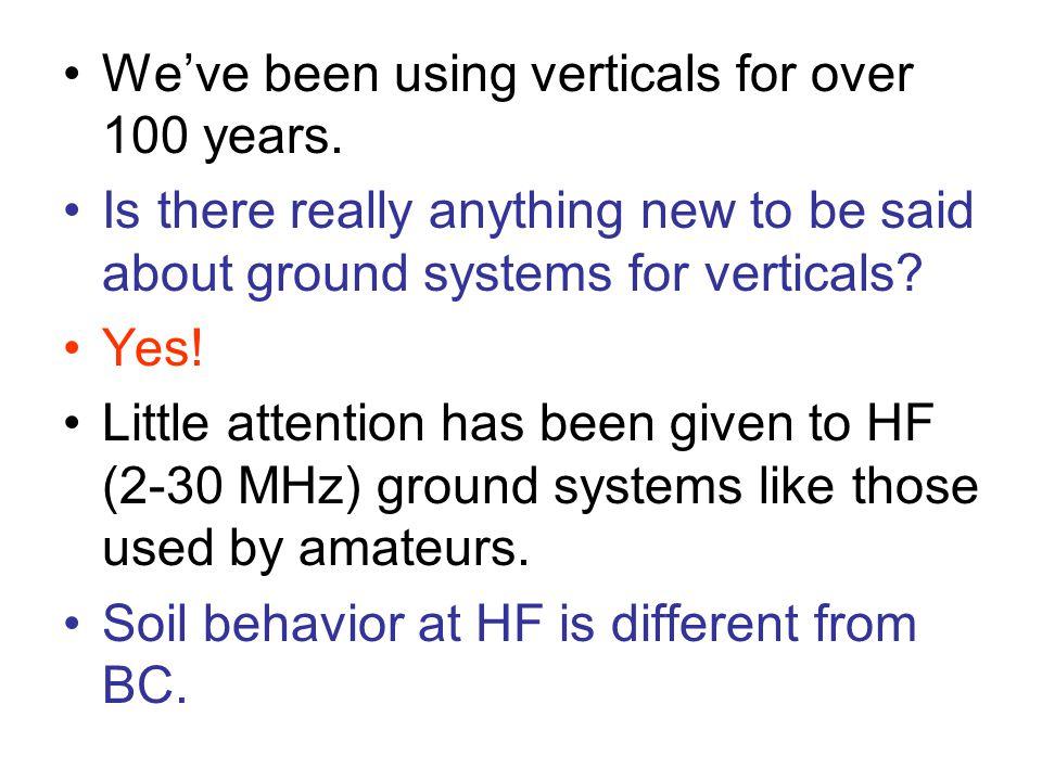 We've been using verticals for over 100 years.