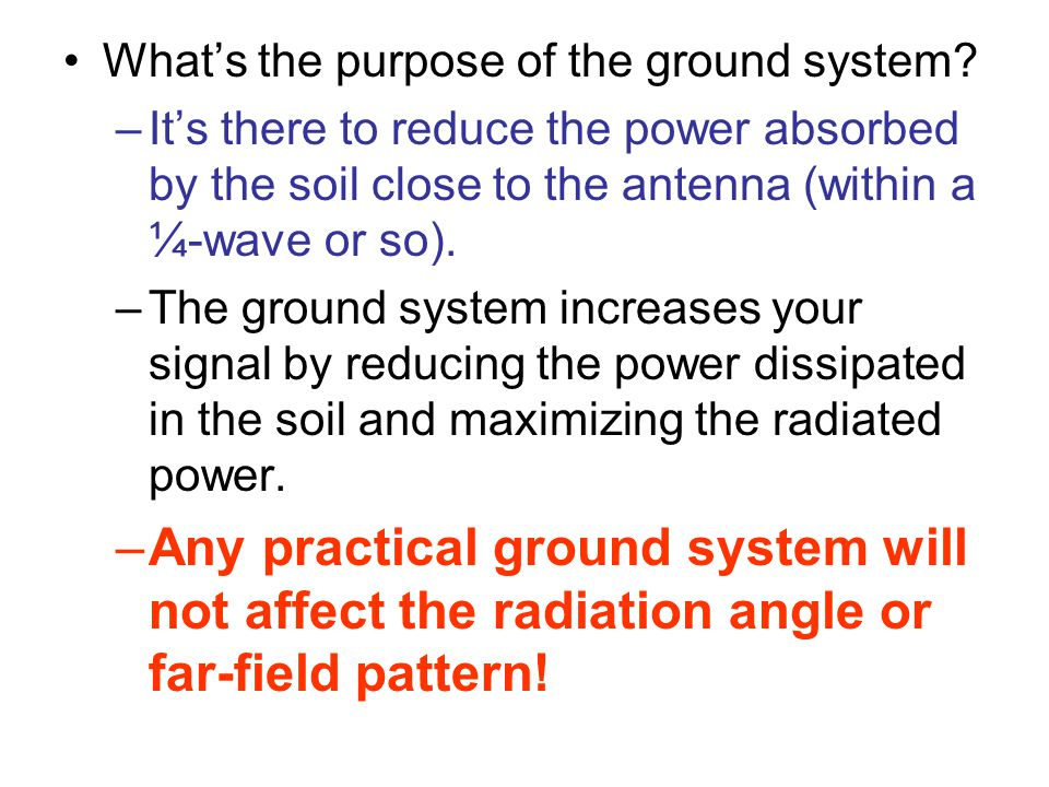 What's the purpose of the ground system