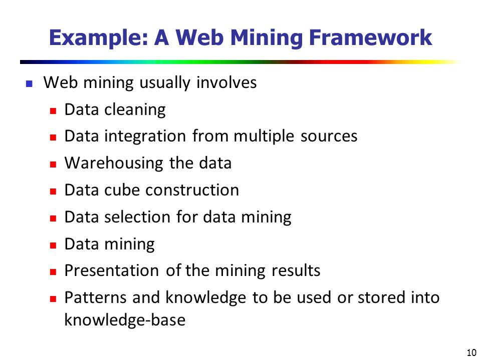 Example: A Web Mining Framework