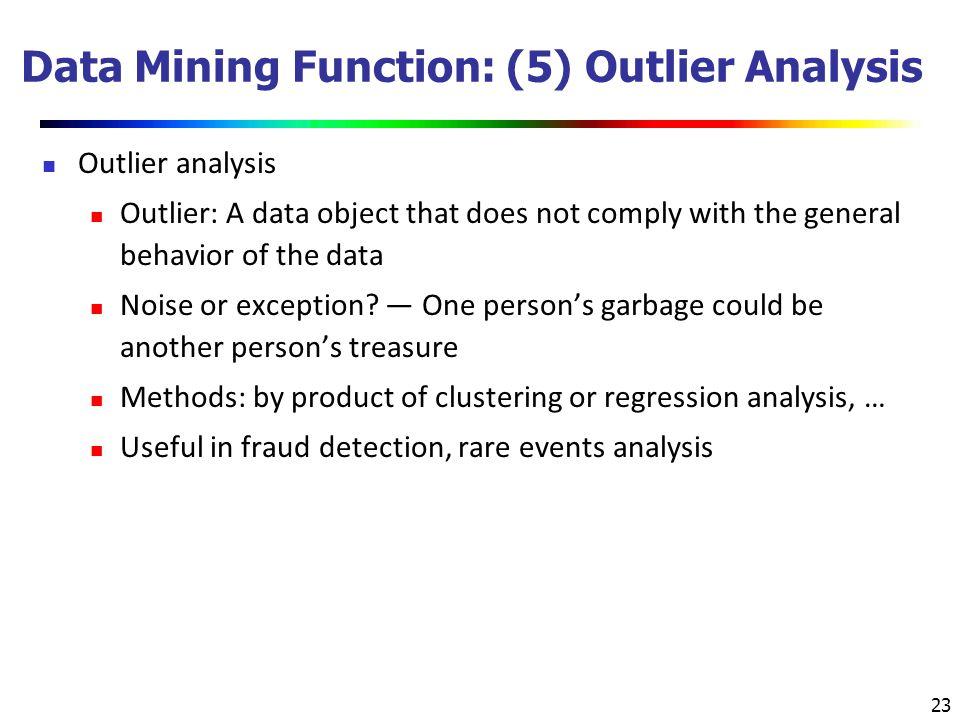 Data Mining Function: (5) Outlier Analysis