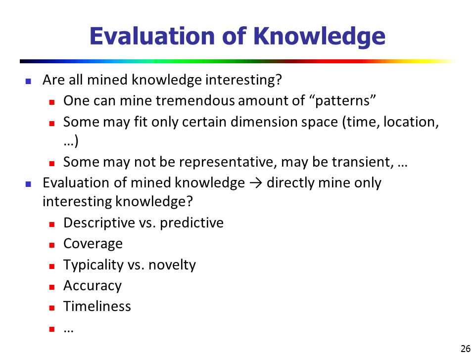 Evaluation of Knowledge