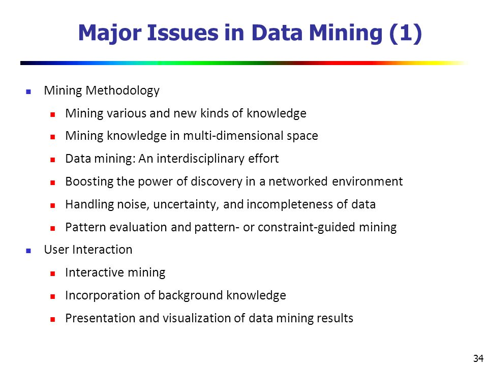 Major Issues in Data Mining (1)