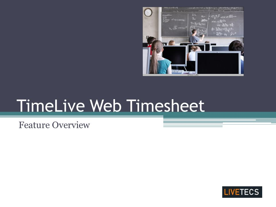 TimeLive Web Timesheet