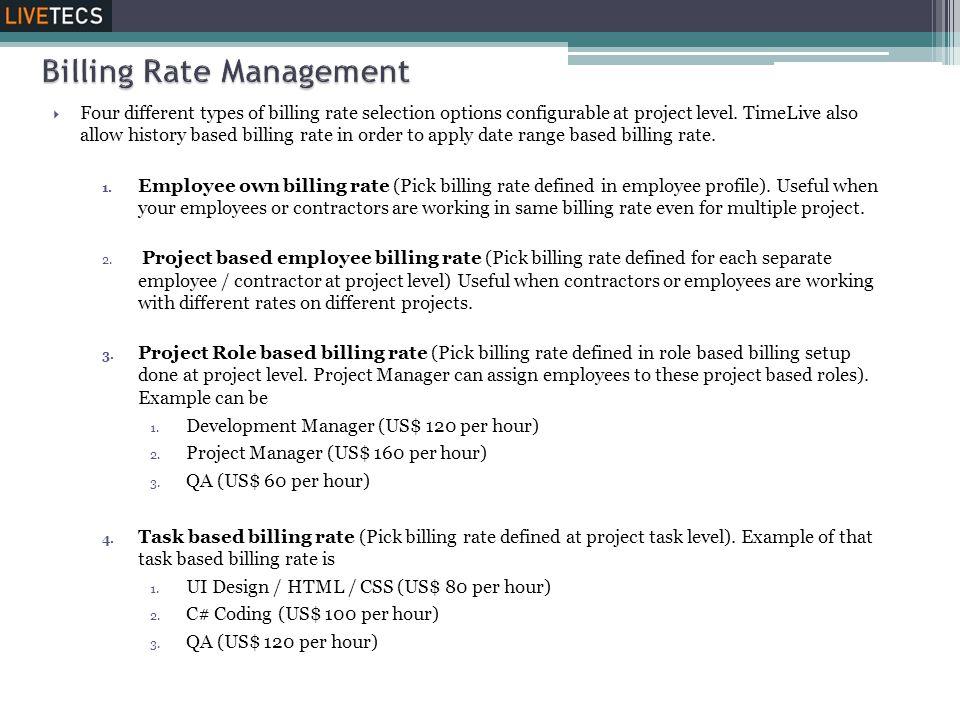Billing Rate Management
