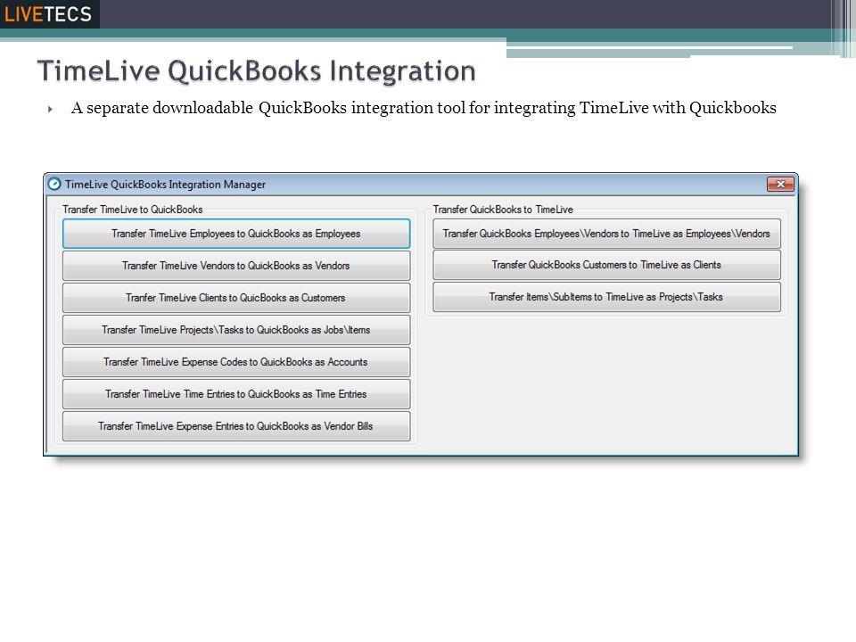 TimeLive QuickBooks Integration