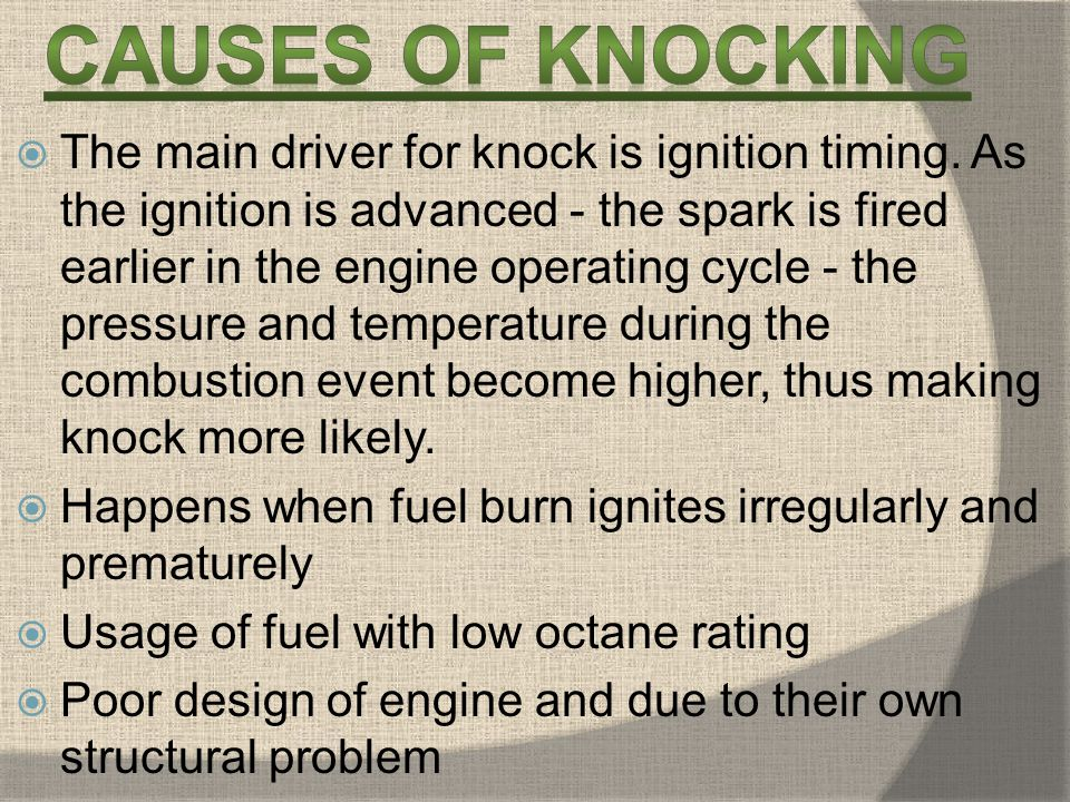 Causes of knocking