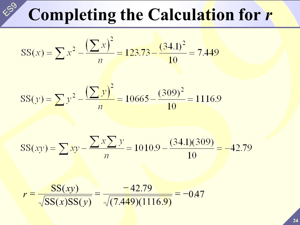 Completing the Calculation for r