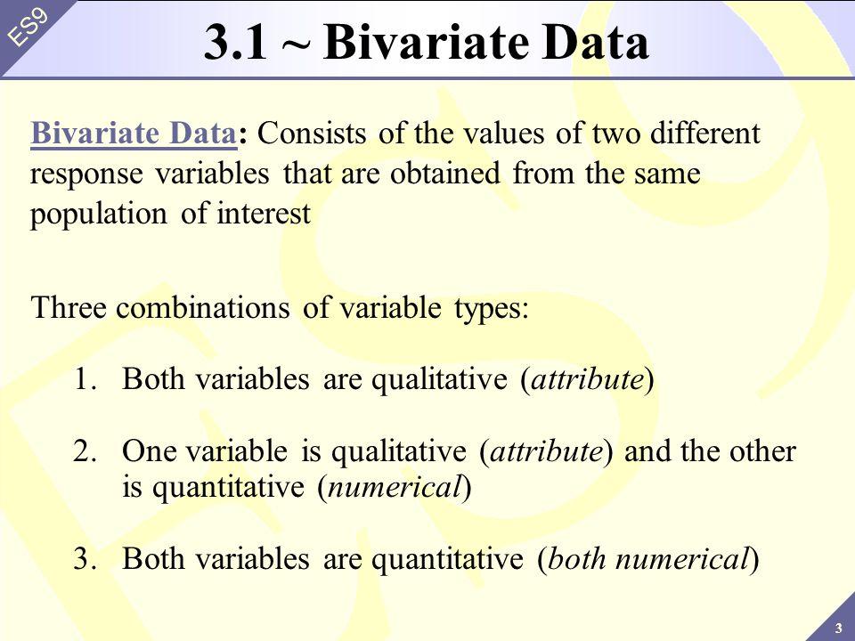3.1 ~ Bivariate Data