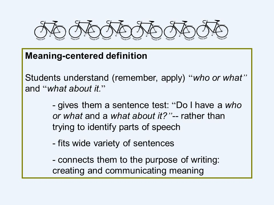 Meaning-centered definition