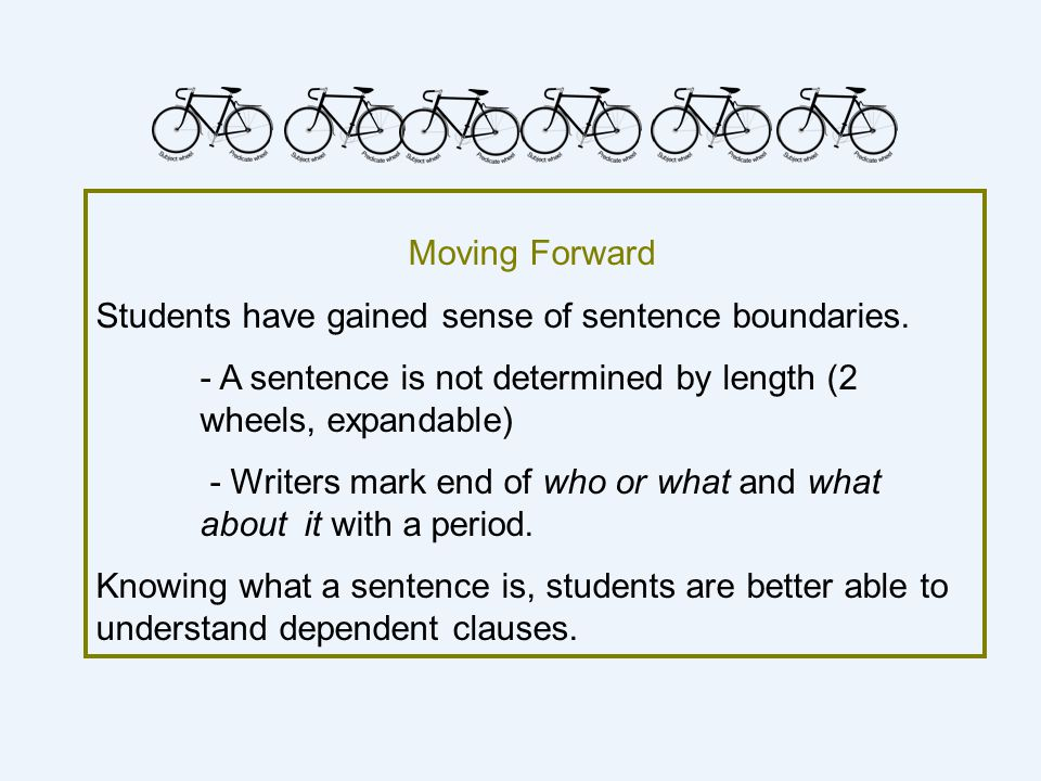 Students have gained sense of sentence boundaries.