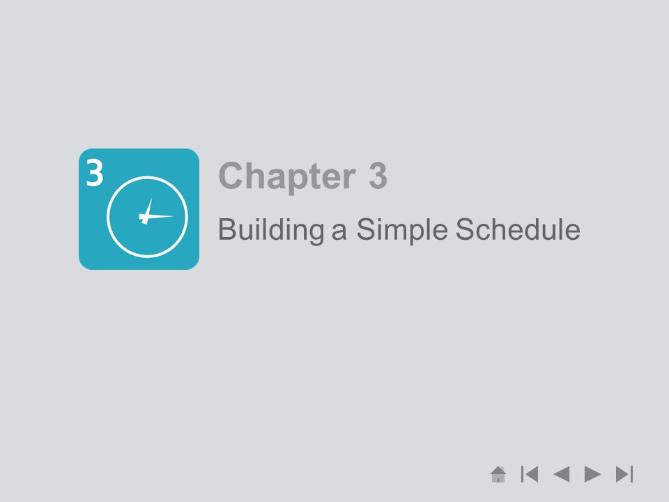 Building a Simple Schedule