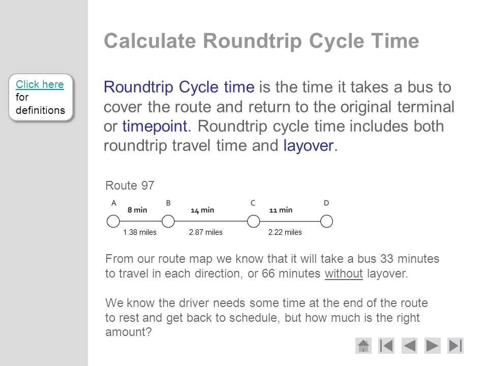 Calculate Roundtrip Cycle Time