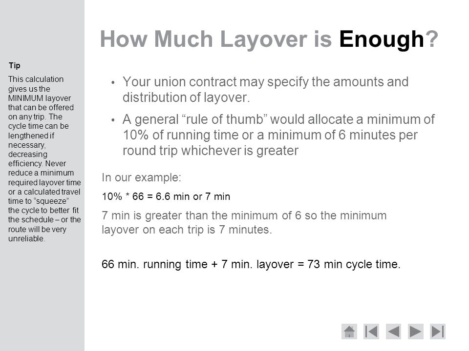 How Much Layover is Enough