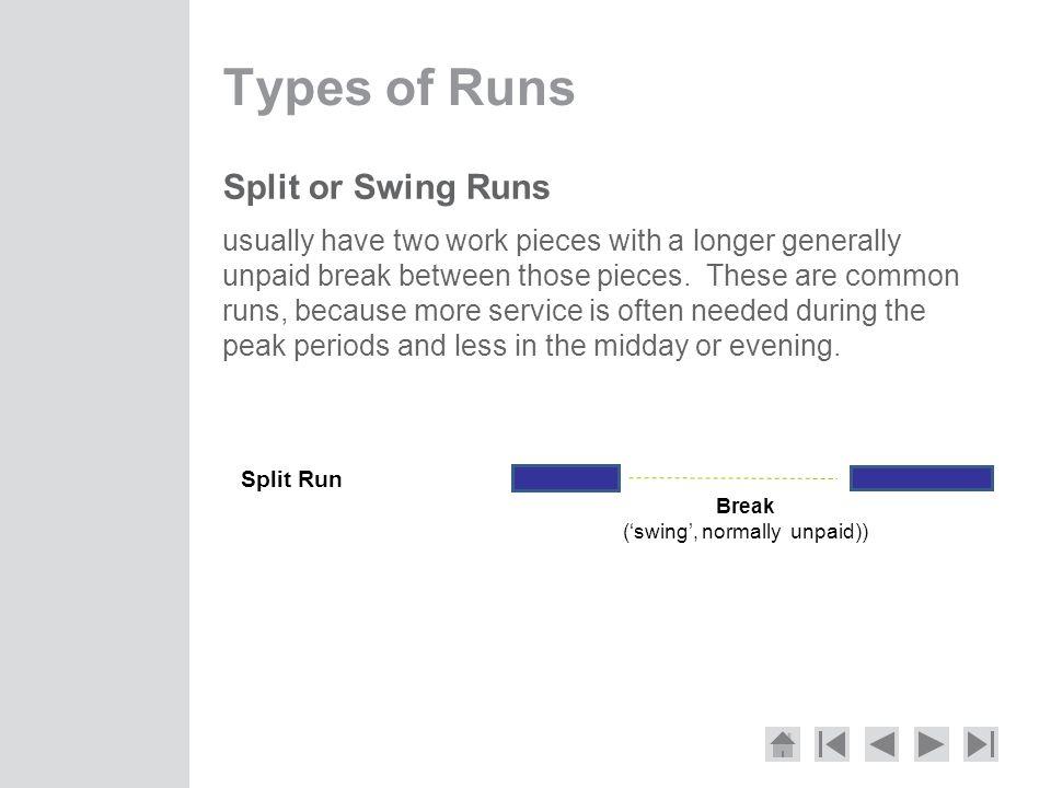 Break ('swing', normally unpaid))