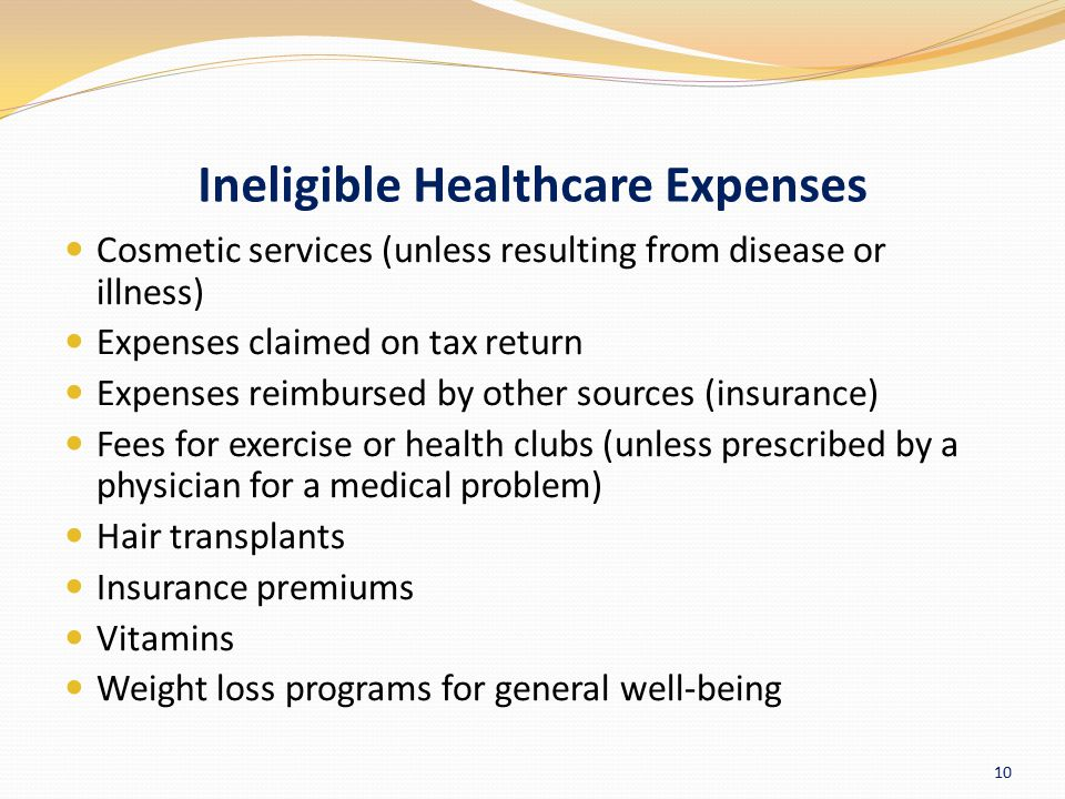 Ineligible Healthcare Expenses