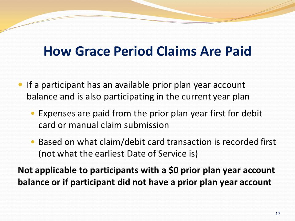 How Grace Period Claims Are Paid