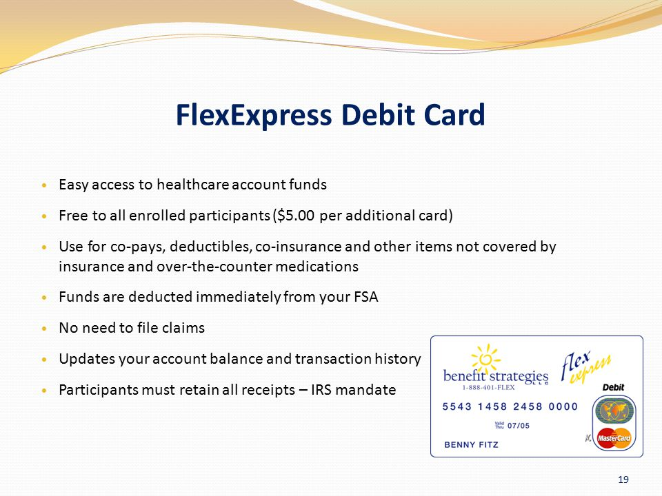 FlexExpress Debit Card