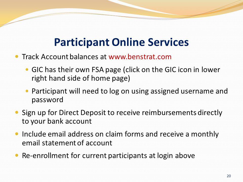 Participant Online Services