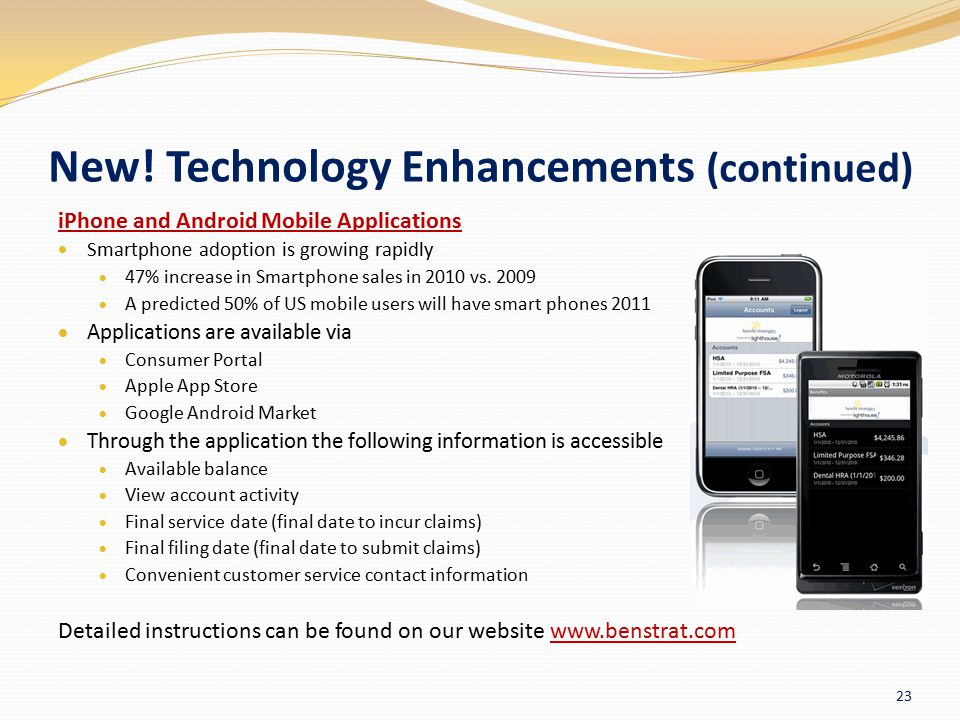 New! Technology Enhancements (continued)