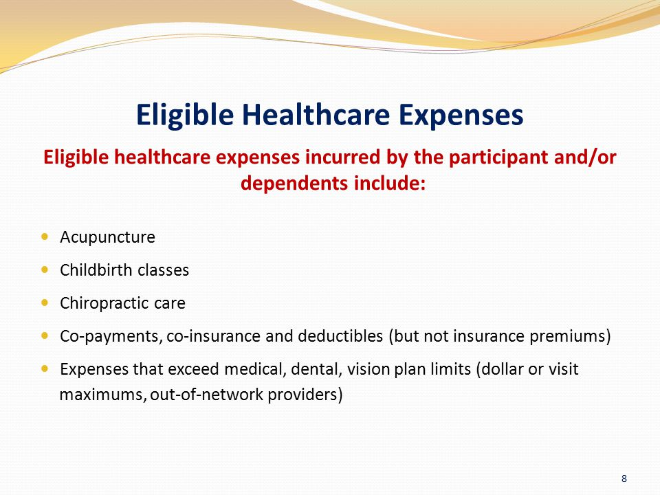 Eligible Healthcare Expenses