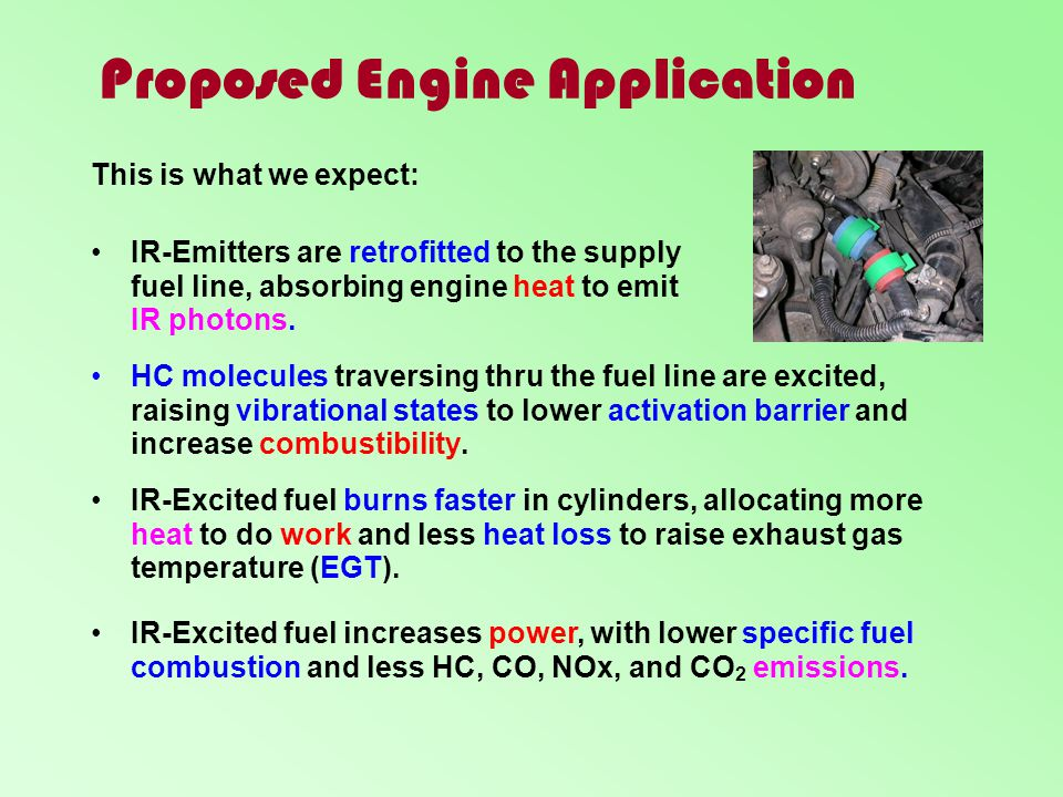 Proposed Engine Application