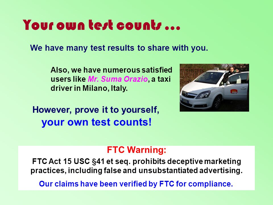 Our claims have been verified by FTC for compliance.