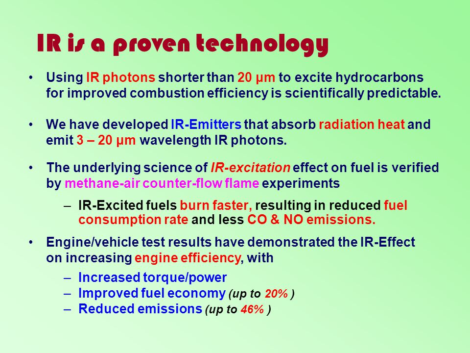 IR is a proven technology