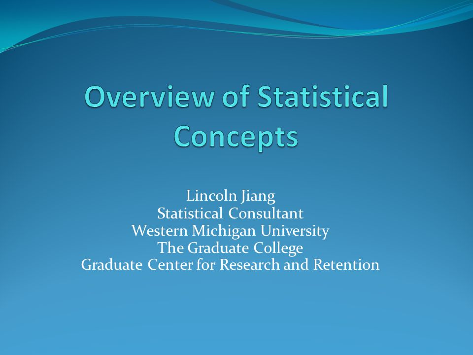 Overview of Statistical Concepts