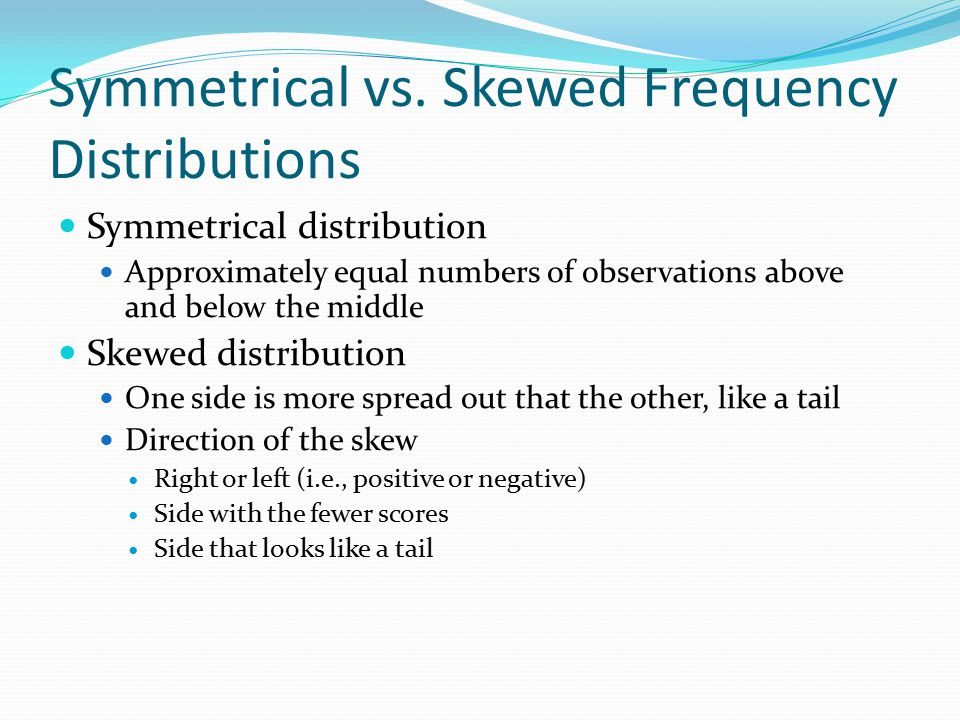Symmetrical vs. Skewed Frequency Distributions