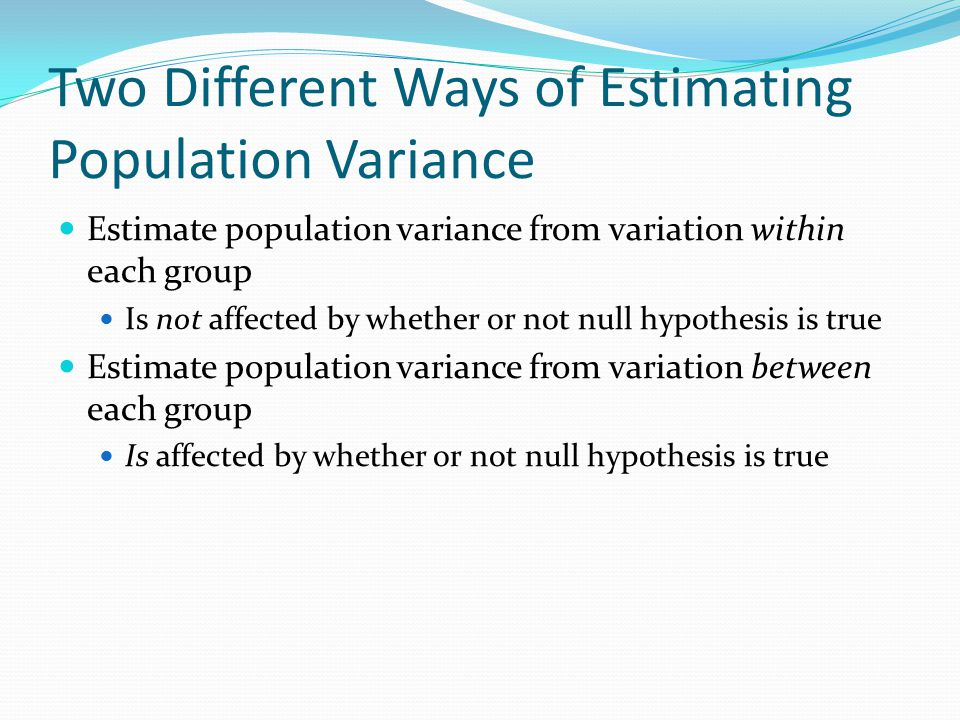 Two Different Ways of Estimating Population Variance