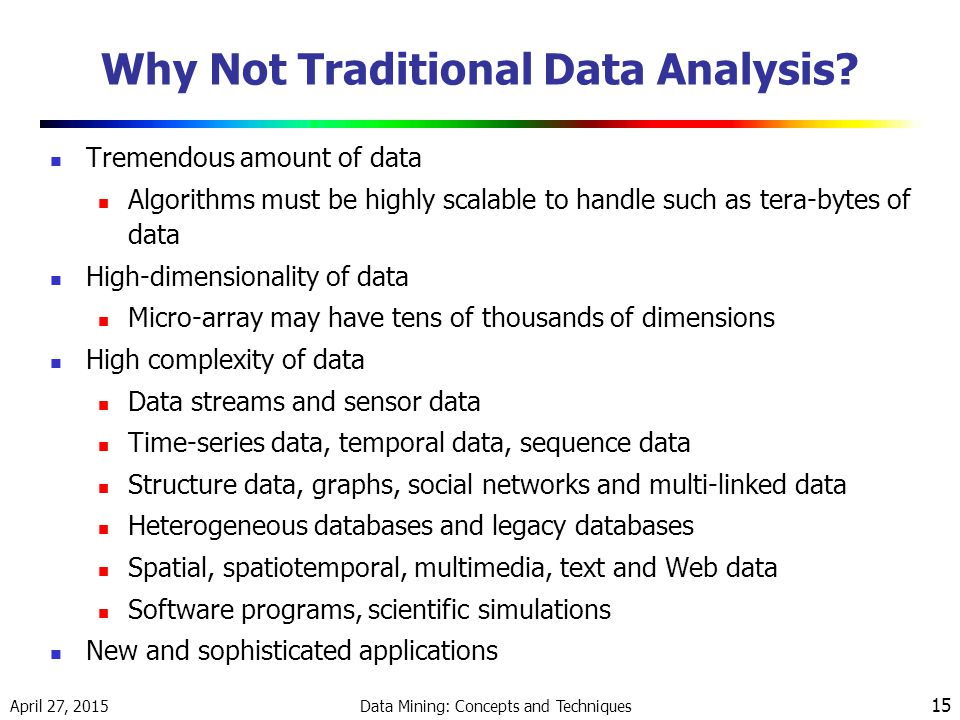 Why Not Traditional Data Analysis